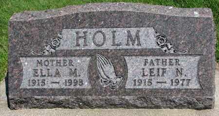 HOLM, LEIF N. - Bon Homme County, South Dakota | LEIF N. HOLM - South Dakota Gravestone Photos