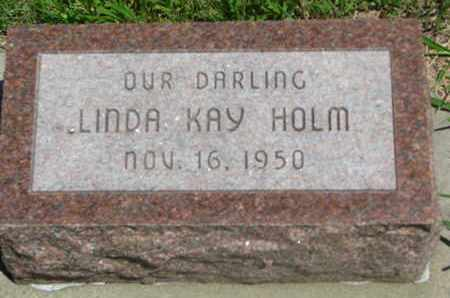 HOLM, LINDA KAY - Bon Homme County, South Dakota   LINDA KAY HOLM - South Dakota Gravestone Photos