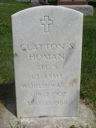 HOMAN, CLAYTON S. - Bon Homme County, South Dakota | CLAYTON S. HOMAN - South Dakota Gravestone Photos