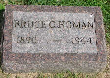 HOMAN, BRUCE C. - Bon Homme County, South Dakota | BRUCE C. HOMAN - South Dakota Gravestone Photos