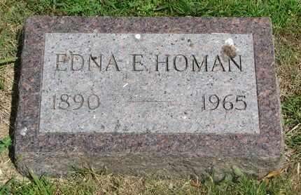 HOMAN, EDNA E. - Bon Homme County, South Dakota   EDNA E. HOMAN - South Dakota Gravestone Photos