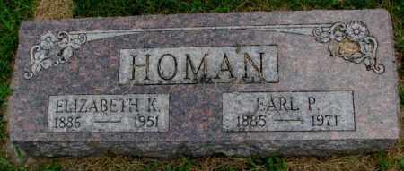 HOMAN, ELIZABETH K. - Bon Homme County, South Dakota   ELIZABETH K. HOMAN - South Dakota Gravestone Photos