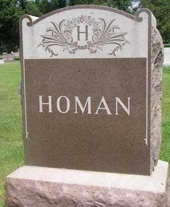 HOMAN, FAMILY MONUMENT - Bon Homme County, South Dakota | FAMILY MONUMENT HOMAN - South Dakota Gravestone Photos