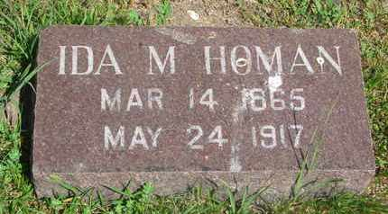 HOMAN, IDA M. - Bon Homme County, South Dakota | IDA M. HOMAN - South Dakota Gravestone Photos