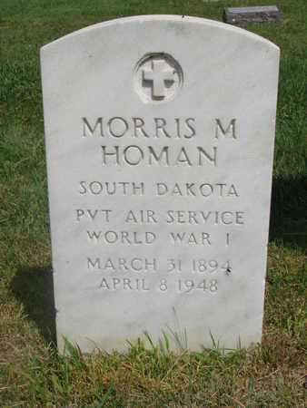 HOMAN, MORRIS M. - Bon Homme County, South Dakota   MORRIS M. HOMAN - South Dakota Gravestone Photos