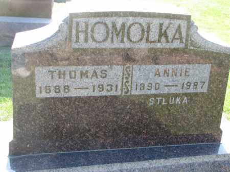 HOMOLKA, ANNIE - Bon Homme County, South Dakota | ANNIE HOMOLKA - South Dakota Gravestone Photos
