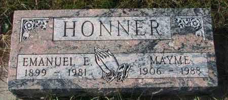 HONNER, EMANUEL E. - Bon Homme County, South Dakota | EMANUEL E. HONNER - South Dakota Gravestone Photos