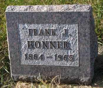 HONNER, FRANK J. - Bon Homme County, South Dakota   FRANK J. HONNER - South Dakota Gravestone Photos