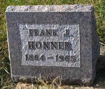 HONNER, FRANK J. - Bon Homme County, South Dakota | FRANK J. HONNER - South Dakota Gravestone Photos