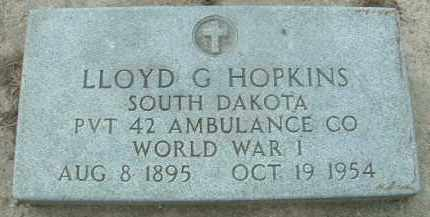 HOPKINS, LLOYD G. - Bon Homme County, South Dakota | LLOYD G. HOPKINS - South Dakota Gravestone Photos