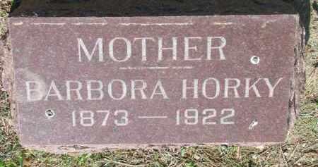 HORKY, BARBORA - Bon Homme County, South Dakota   BARBORA HORKY - South Dakota Gravestone Photos