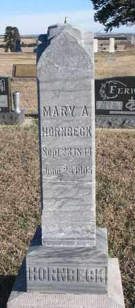 HORNBECK, MARY A. - Bon Homme County, South Dakota | MARY A. HORNBECK - South Dakota Gravestone Photos