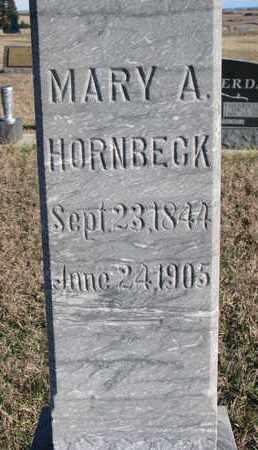 HORNBECK, MARY A. (CLOSEUP) - Bon Homme County, South Dakota | MARY A. (CLOSEUP) HORNBECK - South Dakota Gravestone Photos
