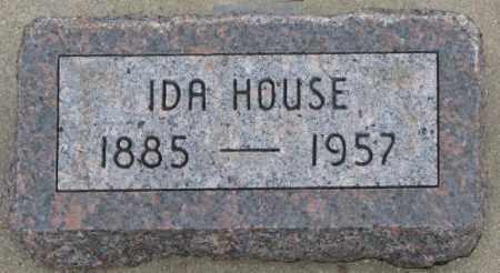HOUSE, IDA - Bon Homme County, South Dakota | IDA HOUSE - South Dakota Gravestone Photos