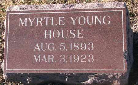 YOUNG HOUSE, MYRTLE - Bon Homme County, South Dakota | MYRTLE YOUNG HOUSE - South Dakota Gravestone Photos