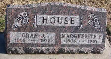 HOUSE, ORAN J. - Bon Homme County, South Dakota | ORAN J. HOUSE - South Dakota Gravestone Photos