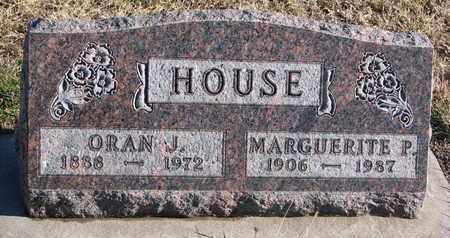 HOUSE, ORAN J. - Bon Homme County, South Dakota | ORAN J. HOUSE - South Dakota Gravestone Photos