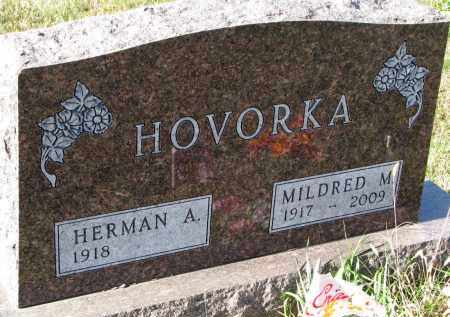 HOVORKA, HERMAN A. - Bon Homme County, South Dakota | HERMAN A. HOVORKA - South Dakota Gravestone Photos