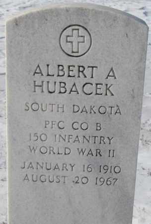 HUBACEK, ALBERT A. - Bon Homme County, South Dakota   ALBERT A. HUBACEK - South Dakota Gravestone Photos