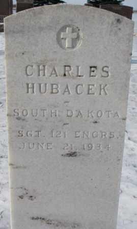 HUBACEK, CHARLES - Bon Homme County, South Dakota   CHARLES HUBACEK - South Dakota Gravestone Photos