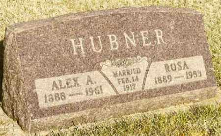 HUBNER, ALEX & ROSA (SCHMIDT) - Bon Homme County, South Dakota | ALEX & ROSA (SCHMIDT) HUBNER - South Dakota Gravestone Photos