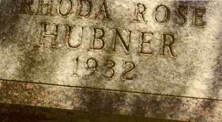 HUBNER, RHODA ROSE - Bon Homme County, South Dakota | RHODA ROSE HUBNER - South Dakota Gravestone Photos