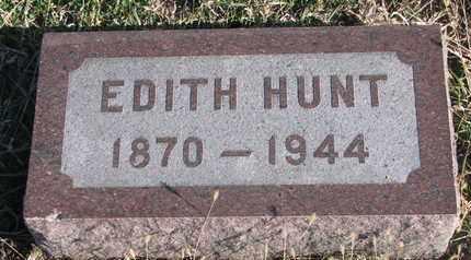 HUNT, EDITH - Bon Homme County, South Dakota   EDITH HUNT - South Dakota Gravestone Photos