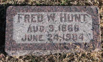 HUNT, FRED W. - Bon Homme County, South Dakota | FRED W. HUNT - South Dakota Gravestone Photos