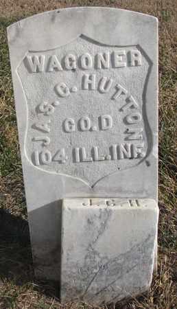 HUTTON, JAS. C. (MILITARY) - Bon Homme County, South Dakota | JAS. C. (MILITARY) HUTTON - South Dakota Gravestone Photos