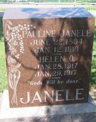 JANELE, PAULINE - Bon Homme County, South Dakota | PAULINE JANELE - South Dakota Gravestone Photos