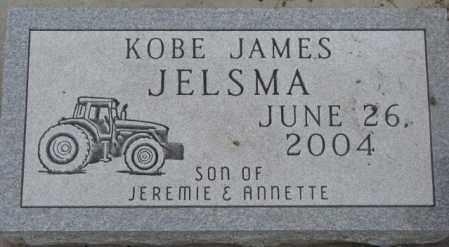 JELSMA, KOBE JAMES - Bon Homme County, South Dakota | KOBE JAMES JELSMA - South Dakota Gravestone Photos
