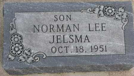 JELSMA, NORMAN LEE - Bon Homme County, South Dakota | NORMAN LEE JELSMA - South Dakota Gravestone Photos