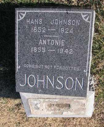 JOHNSON, HANS - Bon Homme County, South Dakota | HANS JOHNSON - South Dakota Gravestone Photos