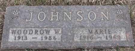 JOHNSON, WOODROW W. - Bon Homme County, South Dakota | WOODROW W. JOHNSON - South Dakota Gravestone Photos