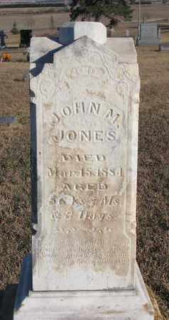 JONES, JOHN M. - Bon Homme County, South Dakota | JOHN M. JONES - South Dakota Gravestone Photos