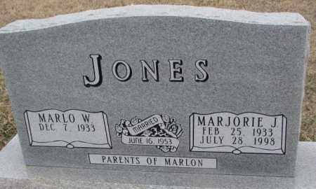 JONES, MARLO W. - Bon Homme County, South Dakota | MARLO W. JONES - South Dakota Gravestone Photos