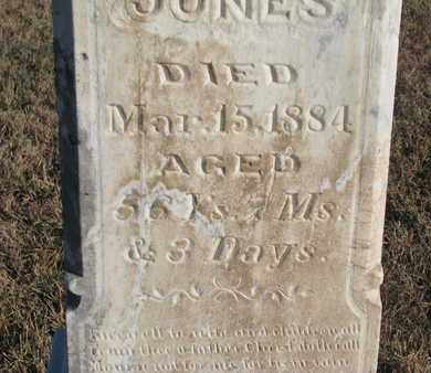 JONES, JOHN M. (CLOSEUP) - Bon Homme County, South Dakota | JOHN M. (CLOSEUP) JONES - South Dakota Gravestone Photos