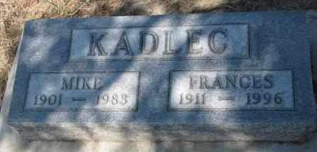 KADLEC, MIKE - Bon Homme County, South Dakota | MIKE KADLEC - South Dakota Gravestone Photos