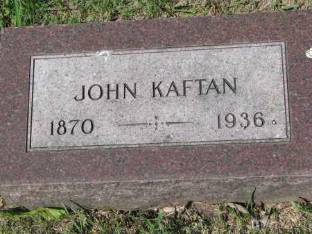 KAFTAN, JOHN - Bon Homme County, South Dakota   JOHN KAFTAN - South Dakota Gravestone Photos