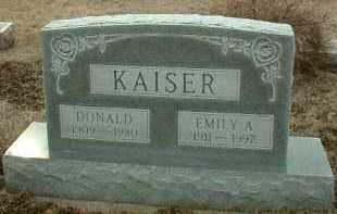 KAISER, DONALD - Bon Homme County, South Dakota | DONALD KAISER - South Dakota Gravestone Photos