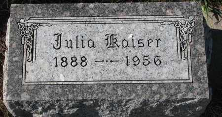 KAISER, JULIA - Bon Homme County, South Dakota | JULIA KAISER - South Dakota Gravestone Photos