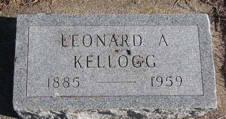 KELLOGG, LEONARD A. - Bon Homme County, South Dakota   LEONARD A. KELLOGG - South Dakota Gravestone Photos