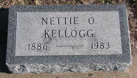 KELLOGG, NETTIE O. - Bon Homme County, South Dakota | NETTIE O. KELLOGG - South Dakota Gravestone Photos