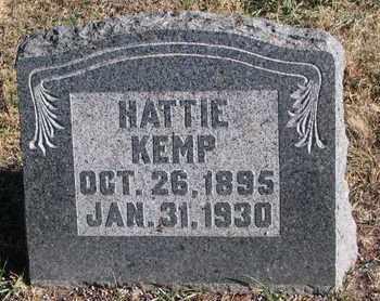 KEMP, HATTIE - Bon Homme County, South Dakota | HATTIE KEMP - South Dakota Gravestone Photos