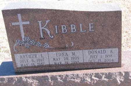KIBBLE, EDNA M. - Bon Homme County, South Dakota | EDNA M. KIBBLE - South Dakota Gravestone Photos