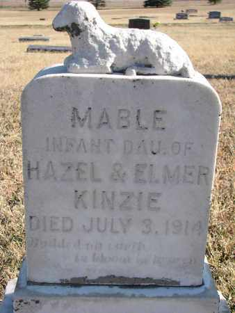 KINZIE, MABLE - Bon Homme County, South Dakota | MABLE KINZIE - South Dakota Gravestone Photos
