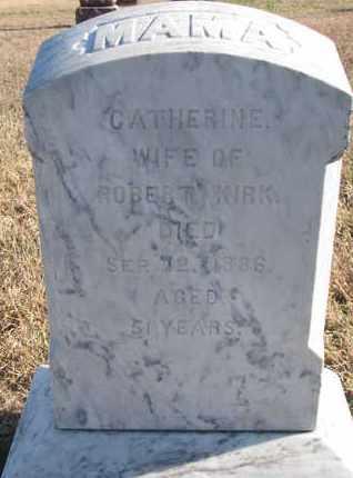 KIRK, CATHERINE - Bon Homme County, South Dakota | CATHERINE KIRK - South Dakota Gravestone Photos