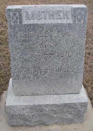 KIRK, ELIZABETH ANN - Bon Homme County, South Dakota | ELIZABETH ANN KIRK - South Dakota Gravestone Photos