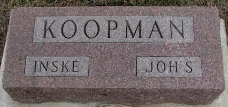 KOOPMAN, INSKE - Bon Homme County, South Dakota | INSKE KOOPMAN - South Dakota Gravestone Photos