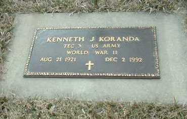 KORANDA, KENNETH - Bon Homme County, South Dakota | KENNETH KORANDA - South Dakota Gravestone Photos
